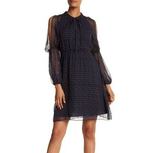 Elie Tahari Greta Cold Shoulder Print Dress